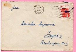Letter - Postmark Osijek, 6.3.1962. / Zagreb, 7.3.1962., Yugoslavia - Unclassified
