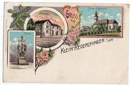 GRUSS AUS KLEIN-REDERCHINGEN * BAHNHOF * CALVAIRE/KREUZ * EGLISE * - Autres Communes
