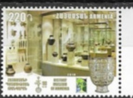 ARMENIA , 2019, MNH, RCC, MUSEUMS, 100th ANNIVERSARY OF HISTORY MUSEUM OF ARMENIA ,1v - Museos