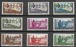 AFRIQUE EQUATORIALE FRANCAISE - AEF - A.E.F. 1941 YT 156/164** - VARIETE - A.E.F. (1936-1958)
