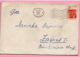 Letter - Postmark Osijek, 22.11.1963., Yugoslavia - Unclassified