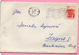 Letter - Postmark Osijek, 2.12.1963., Yugoslavia - Unclassified