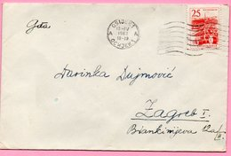 Letter - Postmark Osijek, 13.4.1962., Yugoslavia - Unclassified
