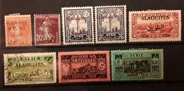 ALAOUITES 1925 1926 ,8 Timbres  Yvert 2, 4 , 24 , 25 , 41 X2 , TAXE 9 & 10  Neufs * / O Cote 16 Euros - Altri