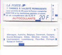 Carnet De 8 Timbres (7 A Usage Permanent + 1 A 0,70 - N° 1506 A (Sans Accent)  (73768) - Markenheftchen