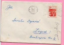 Letter - Postmark Osijek, 12.2.1963., Yugoslavia - Unclassified