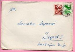 Letter - Postmark Osijek, 9.7.1963., Yugoslavia - Unclassified