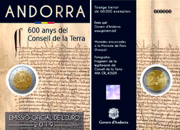 ANDORRA 2 EURO 2019 - 600 Years Of The Council Of The Land - Andorre
