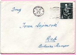 Letter - Postmark Osijek, 17.5.1962. / Rab, 18.5.1962., Yugoslavia - Unclassified