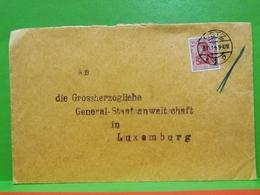 Lettre Envoyé, Die Grossherzogliche General-Staatsanwaltschaft In Luxembourg 1914 - Autres