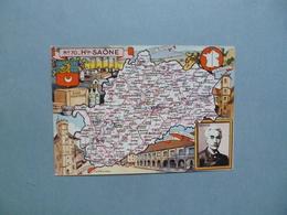 Carte Département  De La HAUTE SAONE    -  70   -   Illustration PINCHON  -  Carte Géographique - Other Municipalities