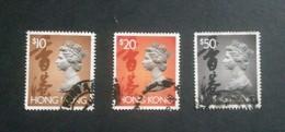 HONG KONG 10$,20$ & 50$ QUEEN ELIZABETH USED !! - Used Stamps