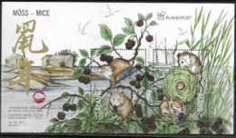 ALAND, 2019, MNH, CHINESE NEW YEAR, YEAR OF THE RAT, MICE, BERRIES, SHEETLET - Anno Nuovo Cinese