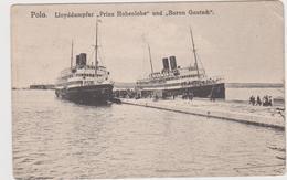 """Pola Lloyddampfer Hohenlohe"""" Und""""baron Gautsch"""" - Alemania"""