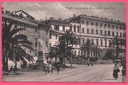 Pegli - Monumento A G. Garibaldi - Grand Hotel - Animée - Edit. MENCHI G. - 1917 - Genova (Genoa)