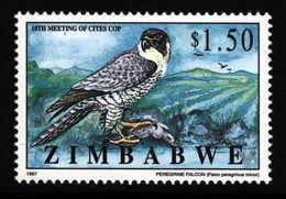 Zimbabwe Simbabwe 1997 ** MNH. CITES Dwarf Peregrine Zwergwanderfalke - Adler & Greifvögel
