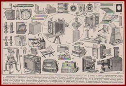 Photographie. Appareils Photographiques. Illustration Maurice Dessertenne. Larousse 1931. - Documenti Storici