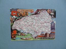 Carte Département  De La SEINE MARITIME  -  76   -   Illustration PINCHON  -  Carte Géographique - Altri Comuni