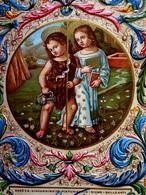 Belle Cpa Gaufrée JESUS ENFANT . GESU E S.GIOVANNINO . BELLE ARTI . SIENA  , Embossed OLD PC EDIT . SBORGI FIRENZE - Jésus