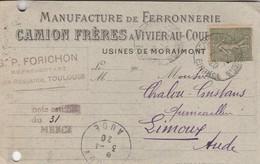 Vivier-au-Court / Camion Frères - Manufacture De Ferronnerie / Usines De Moraimont - Visitenkarten