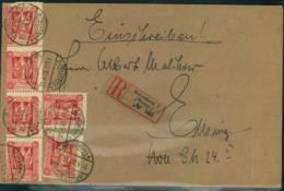 """MARIENWERDER: 1920,Einschreiben Mit MeF Ab """"MARIENBURG 2(WESTPR.) 21.4.20"""" - Allemagne"""