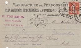 Vivier-au-Court / Camion Frères - Manufacture De Ferronnerie Usines De Moraimont - Visitenkarten