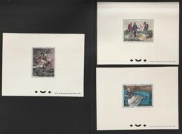1962 - YT 1363 à 1365 - Epreuve De Luxe  - Cote 540€ - - Luxusentwürfe