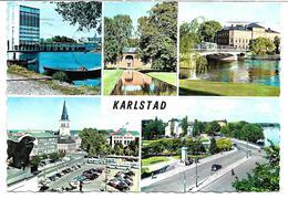 4190zh: AK Schweden, Gelaufen 1966, Karlstadt Mehrbildkarte - Schweden