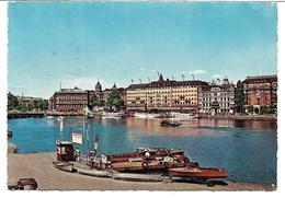 4190zf: AK Schweden, Gelaufen 1961, Hafenansicht Mit Booten, Stockholm - Schweden