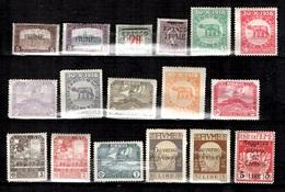 Fiume Petite Collection De Bonnes Valeurs Neufs * 1919/1920. B/TB. A Saisir! - 8. WW I Occupation