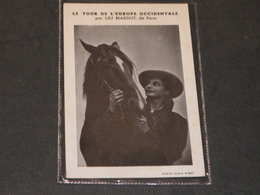 LILI BIARDOT DE PARIS-SON TOUR D'EUROPE-PASSAGE A LA CASERNE HAELEN WEIDEN LE 21/7/51 Au Profit Des Orphelins - Célébrités