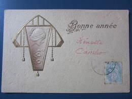 Carte Postale En Relief Bonne Année - New Year