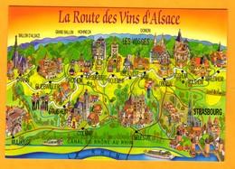 Alsace  La Route Des Vins    EDT Mage      N° - Maps