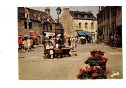 Cpm - 29 - CONCARNEAU - Place Ville Close Fontaine Tortue Crocodile Lampadaire Jack 1585 - Concarneau