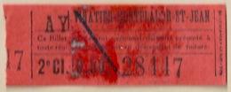Ticket Vinatier Monplaisir St Jean 2ème Classe - Europe