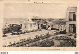 MAROC  RABAT  L'Hôpital Marie-Feuillet Et Le Boulevard Clemenceau - Rabat