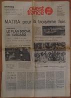 24 H Du Mans 1974.Matra Pour La 3ème Fois.Larousse.Pescarolo.Depnic-Aubriet.Jean Rondeau.Charlotte Verney. - Desde 1950