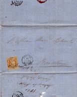 Año 1860 Edifil 52 Sello 4 C De Isabel II Carta Matasellos Tipo II Andrais Mallorca - Brieven En Documenten