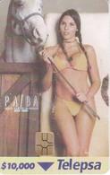 TARJETA DE COLOMBIA DE UNA CHICA SEXI (EROTICA-NUDE) WOMAN (TELEPSA) - Colombia