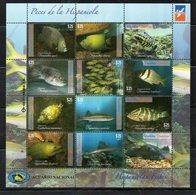 DOMINICANA, 2014, FISHES S/S, MNH** - Vissen