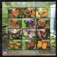 DOMINICANA, 2014,BUTTERFLIES, S/S. MNH** - Vlinders
