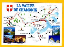Les Alpes  La Vallée De Chamonix      EDT Edy  N° - Maps