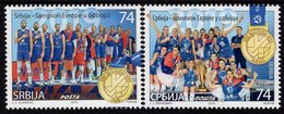 Serbia - 2019 - Serbia - European Volleyball Champion - Mint Stamp Set - Serbia