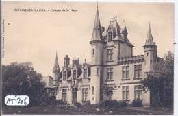 FONCQUEVILLERS- CHATEAU DE LA HAYE - Francia