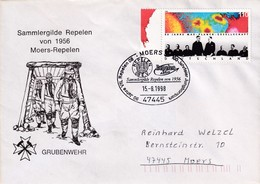 Germany 1998 Cover: Football Fussball; VFL Repelan Moers; Minerals: Mine Rescue Rheinland; Nobel Prize Max Plank - Soccer
