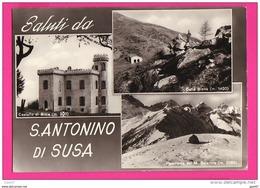 CPSM (RÉF : VV867) Saluti Da S. Antonino Di Susa ( ITALIE) MULTI VUES - Italie