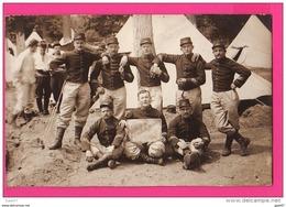 CARTE PHOTO (RÉF : Z05) Guerre 14-18  Groupe De Soldat Maison Laffitte - Weltkrieg 1914-18