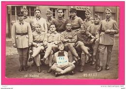 CARTE PHOTO  (Réf : Z392) MILITARIAT PHOTO DE GROUPE 121ème D. Kaisers 22/11/1927 - Personnages