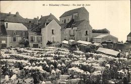 Cp Vézelay Yonne, Un Jour De Foire, Viehmarkt - France