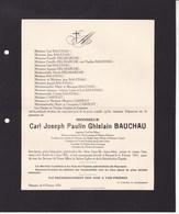 ANHEE RANSART Carl BAUCHAU 1876-1931 Directeur Charbonnages De MASSES-DIARBOIS DELMARCHE CARPENT - Décès